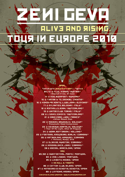 ZENI GEVA - Offical Poster European Tour 2010