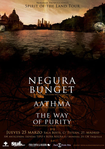 Negura Bunget + Aathma + The Way of Purity en Madrid