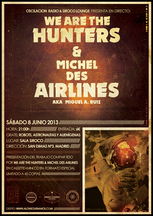 We are the Hunters & Michel des Airlines poster